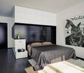 modern bedroom interior/