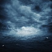 image of thunder-storm  - Stormy ocean abstract natural backgrounds for your design - JPG