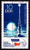 Postage Stamp Gdr 1973 Rocket Launching