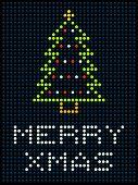 Christmas Tree On An Led Display
