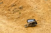 Wheelbarrow And Dirt