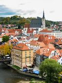 View On Red Roofs In Cesky Krumlov