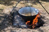 Pot With Porridge Of Lentils