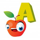 fruits abc: A is for Apple
