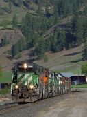 stock photo of bnsf  - bnsf 3001 leads a southbound m - JPG