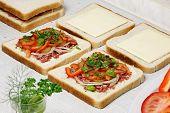 Sandwiches Preparation.