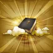 Bible, old style vector background