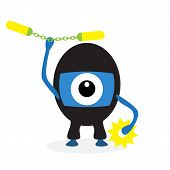 Cartoon ninja cyclops