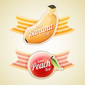 Banana And Peach Labels