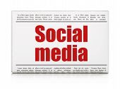 Newspaper headline Social Media