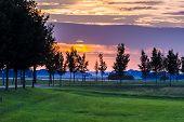 Sunset Along Old Dyke