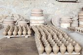 picture of bahrain  - Hand made amphoras in a traditional pottery. Bahrain Middle East