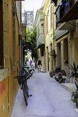 Backyard Narrow Street Of Chania