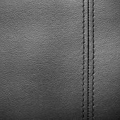 Closeup Of A Leather With Seam Texture Or Background