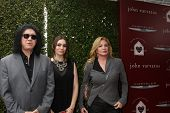 LOS ANGELES - APR 13:  Gene Simmons, Sophie Simmons, Shannon Tweed at the John Varvatos 11th Annual