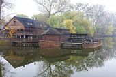 image of water-mill  - water mill on boat - JPG