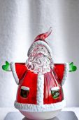 Glass Santa Decoration