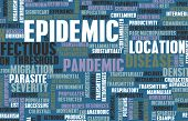stock photo of epidemic  - Epidemic as Outbreak of Infectious Disease as Art - JPG
