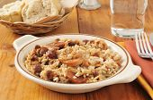 Bowl Of Sausage, Beans And Rice