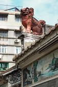 Chinese Guardian Lion. Lin Kai Temple In Macau