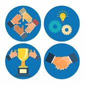 partnership concepts business illustration