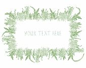 Grass frame background hand drawn design