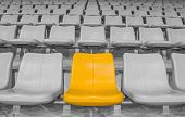 Highlighted Yellow Stadium Seat