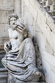 Roman Representation Of Tiber As A God (tiberinus) With Cornucopia At The Campidoglio, Rome.