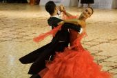 Bailarines de salón de baile
