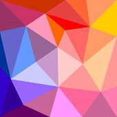 Triangle vector background or seamless yellow, orange,pink, violet purple and dark navy blue pattern