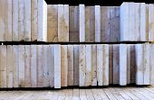 stock photo of slab  - stone slabs cut and polished on a pallet - JPG