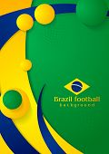 Bright wavy background in Brazilian colors