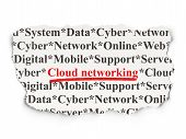 Cloud networking concept: Cloud Networking on Paper background