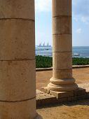 Columns In Caesarea