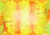 Abstract triangle mosaic gradient colorful background with dotted line structure
