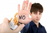 Teenager Refuses From Cigarettes