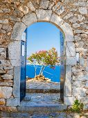 Gate in Palamidi fortress in Nafplio, Greece
