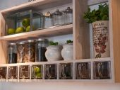 Beautiful Classical Kitchen Shelves And Spices Rack
