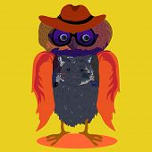 Owl, vector illustration, illustration for t-shirt, illustration for children (a series of popular h