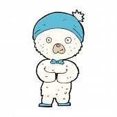cartoon little polar bear