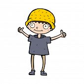 image of attitude boy  - cartoon boy with positive attitude - JPG