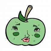 cartoon apple with face