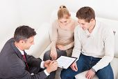 Consultant Showing Agreement To Couple