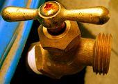 Rust Water Faucet