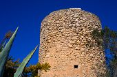 Javea denia San antonio Cape old windmills masonry structure in Alicante province spain