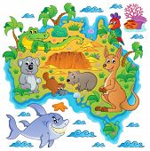 Australian map theme image 3 - eps10 vector illustration.
