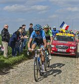 Two Cyclists- Paris Roubaix 2014