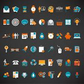 Flat design icon set.