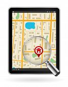 digital tablet pc with gps map and zoom glass design