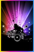 Discoteque Colorful Background For Flyers